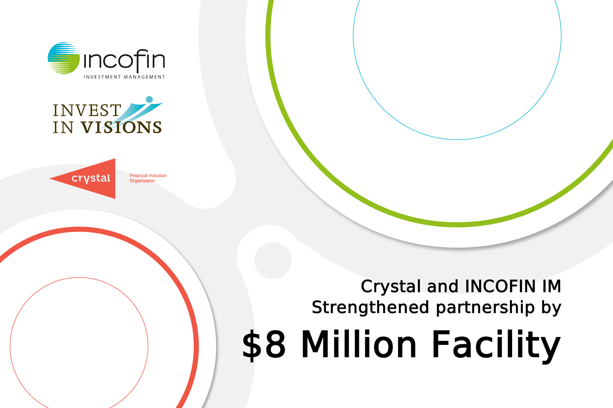 Crystal Confirms $8 Million Facility with INCOFIN IM